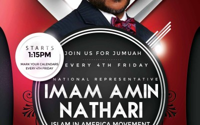 Friday March 25: Masjid Kauthar at Muslim Center of Wilmington, DE